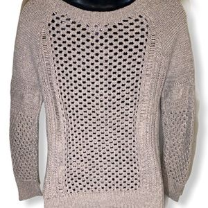 American Eagle Outfitters Sweaters - American Eagle Light Brown Cable Knit Pullover